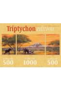 Elefanten am Kilimandscharo - 1000 + 2 x 500