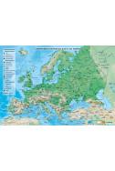 Природногеографска карта на Европа + Политическа карта на света