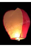 Летящ фенер премиум - бяло и червено
