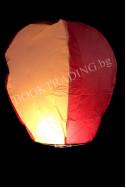 Летящ фенер премиум - бяло и розово