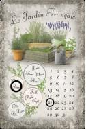 Метален вечен календар Le Gardin Francais