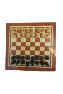 Кутия за шах с естествен фурнир - махагано 22/22