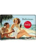 Метална картичка Delicious Coca-Cola