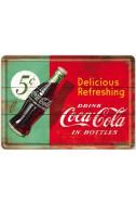 Метална картичка Deliciouis Refreshing Coca-Cola