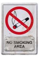 Метална картичка No Smoking Area
