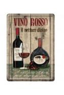 Метална картичка Vino Rosso