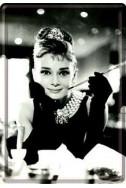 Метална картичка Одри Хепбърн