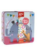 Мозайка със стикери Слон и приятели, в метална кутия