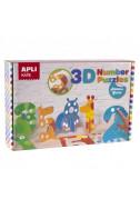 3D пъзел APLI Kids Цифри-животни