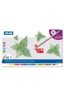 Цветни моливи Milan в метална кутия - 36 цвята