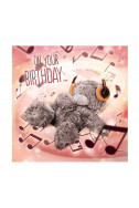 3D Картичка Bday Bear and Headphohes