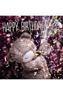 3D Картичка Bday Bear and Partypopper