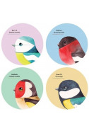 Сет подложки за чаши - Matt Sewell's Birds