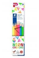 Цветни моливи Staedtler Ergosoft 157 - 6 неонови цвята