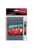 Комплект бележник с химикал Disney - Cars 3