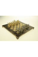 Луксозен ръчно изработен шах Manopoulos: Махагон 20 х 20