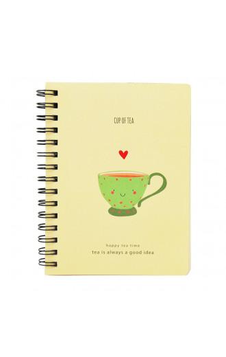 Скицник със спирала Happy Tea Time - Cup of Tea