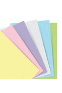 Цветен пълнител за тефтер Filofax Pocket, 60 л, квадрати