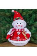 Коледна украса - Снежен човек с шейна
