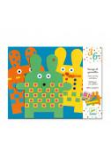 Детски креативен комплект със стикери Djeco - Зайчета