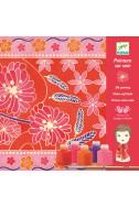 Комплект Djeco - Нарисувай копринен шал Japanese Garden
