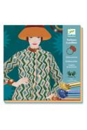 Комплект за оцветяване с брокат Djeco - Fashion