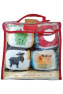 Домашни животни (комплект книга + меки кубчета за игра)