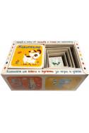 Комплект от книга и кубчета за игра и учене: Животните