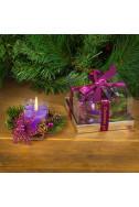 Коледна свещ - лилава