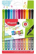 Тънкописци Maped - Graph Decorated, 12 цвята