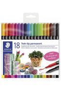 Перманентни маркери Staedtler Design Journey, 18 цв.