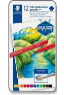 Акварелни моливи Staedtler - Design Journey, 12 цвята (метална кутия)