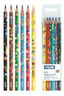 Цветни моливи Milan - Super Heroes Space, 6 цвята