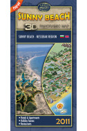 Sunny Beach. 3D Panoramic map