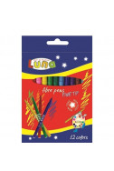 Флумастери Luna - 12 цвята