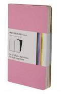 Set of 2 Volant Notebooks Ruled - Pink - Pocket