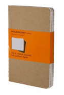 Set of 3 Ruled Cahier Journals - Kraft - Large