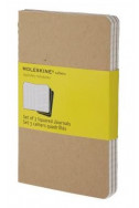 Set of 3 Squared Cahier Journals - Kraft - Large