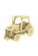 Дървен конструктор - Трактор – 120 части