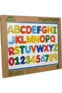 Магнитна дъска с букви и цифри