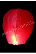 Летящ фенер премиум - червен