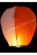 Летящ фенер премиум - бяло и оранжево