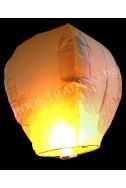 Летящ фенер премиум - бяло и жълто