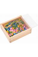Цветни дървени мъниста