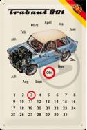 Метален вечен календар Trabant 601