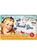 Метална картичка Thank You