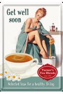 Метална картичка Get Well Soon