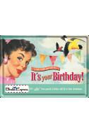 Метална картичка It's Your Birthday