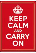 Метална картичка Keep Calm And Carry On