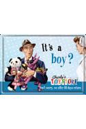 Метална картична It's a boy?